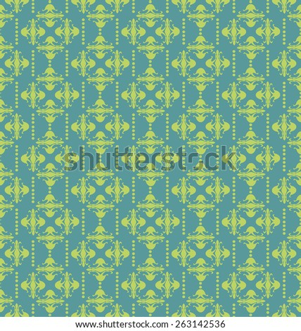 Wallpaper for walls. Vector Image. Vintage style. Texture background. Seamless pattern. Red color.