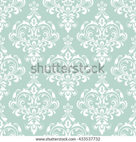Wallpaper in the style of Baroque. A seamless vector background. Damask floral pattern. Floral ornament. Stylish graphic pattern. - stock vector