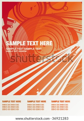 wallpaper party red - stock vector