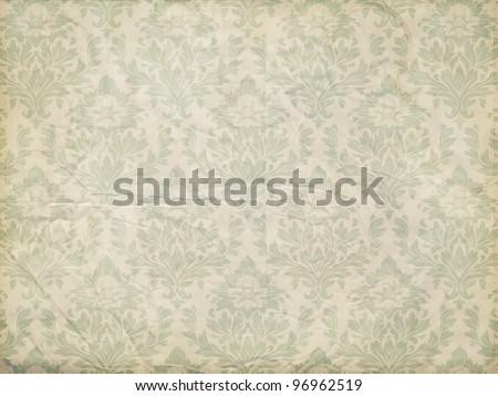 Wallpaper pattern, old paper texture, vector - stock vector