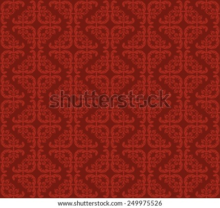 Wallpaper Red Pattern for Your design - stock vector