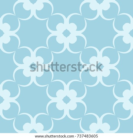 wallpaper seamless pattern ornamental blue and white background vector