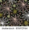 Wallpaper with colored leafs of cannabis - stock vector