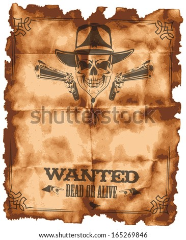 Wanted leaflet - stock vector