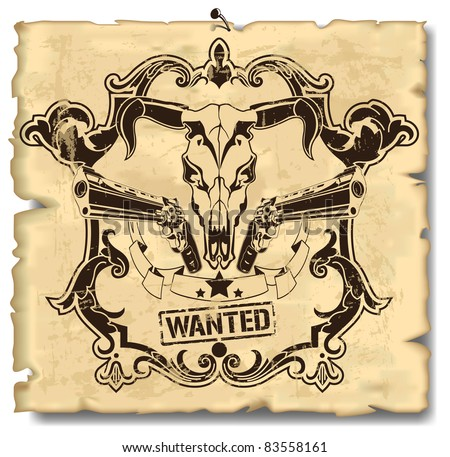 Wanted leaflet 2 - stock vector
