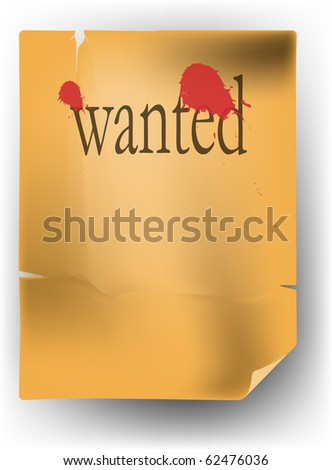 wanted list - stock vector