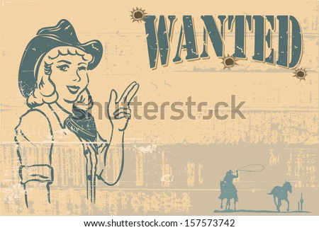 Wanted signboard, vector - stock vector