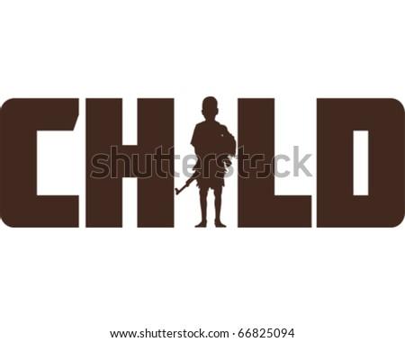 War Child - stock vector