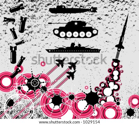 War clip-arts - stock vector
