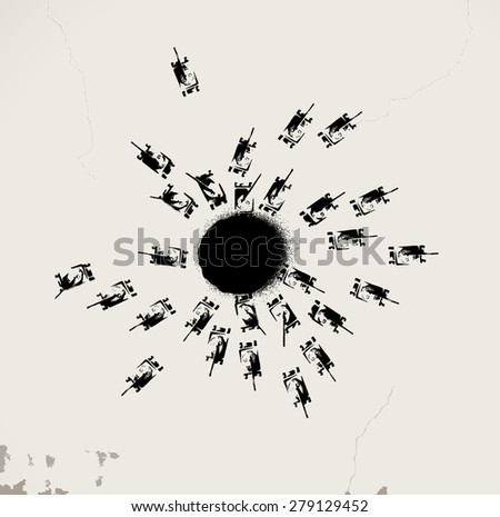 War game - stock vector