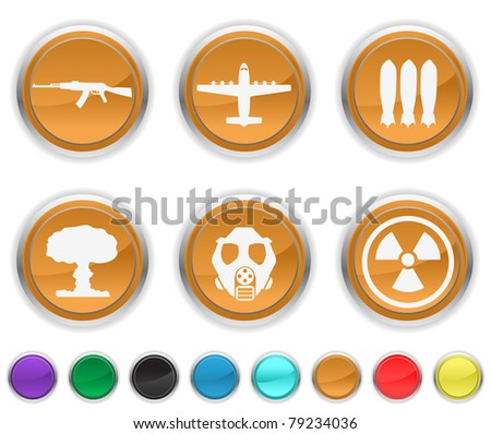 war icons,each icons is set ona different layer - stock vector
