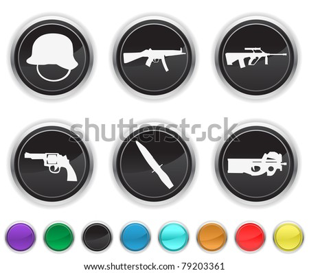 war icons,the icons are set on a different layer - stock vector