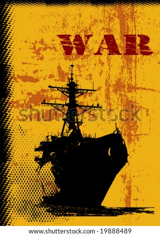 War Theme Vector Background - stock vector