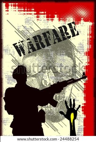 War Theme Vector Background - stock vector