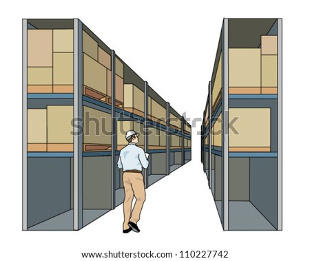Warehouse - stock vector