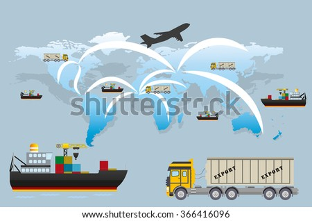 Warehouse transportation and delivery - stock vector