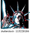 Warhol-Inspired Lady Liberty - stock vector