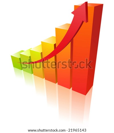 Warm graph - stock vector