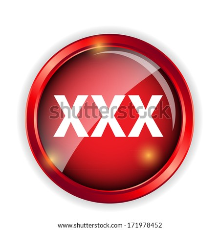 Warning Adult Only for xxx concept Vector Illustration - stock vector