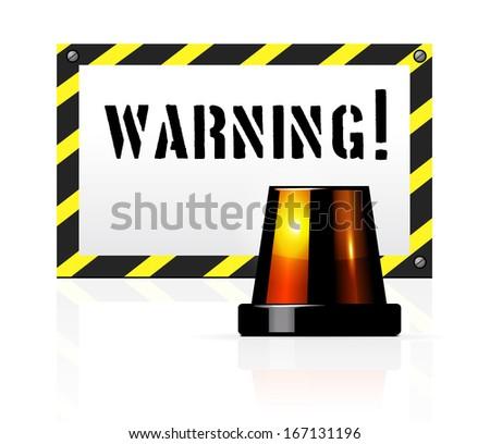 Warning background - stock vector