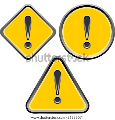 warning exclamation - stock vector