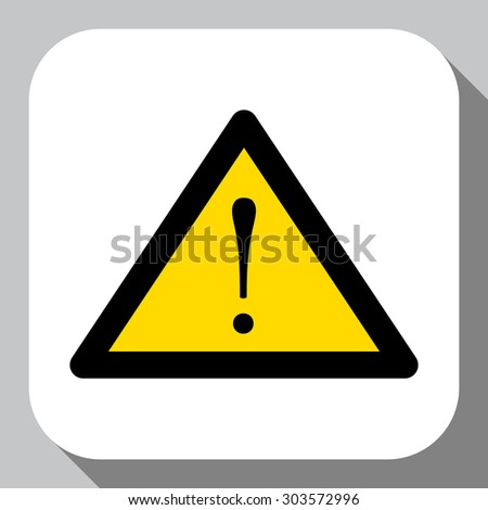 warning exclamation point icon vector