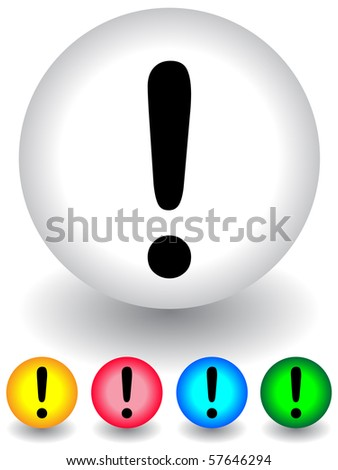 warning internet sign in 5 colors - stock vector