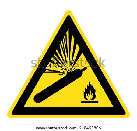 Warning pressurized cylinder sign (eps 10) - stock vector