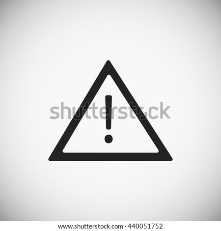 warning roadsign icon - stock vector