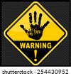 warning, sign - stock vector