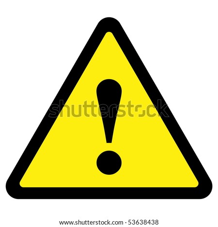 Warning Sign - stock vector