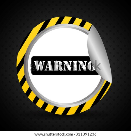Warning sign digital design, vector illustration 10 eps graphic