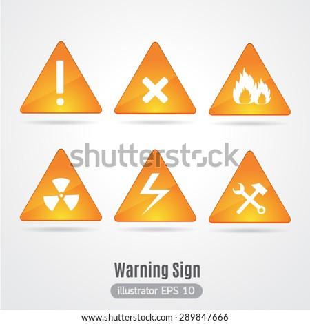 Warning sign vector. - stock vector