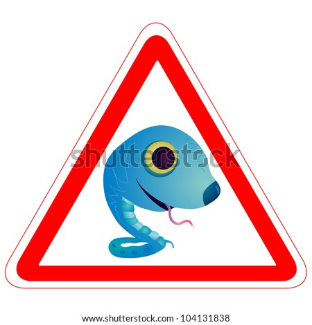 Warning sign with the Snake