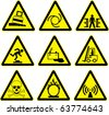 warning signs set of batch 2. vector - stock vector