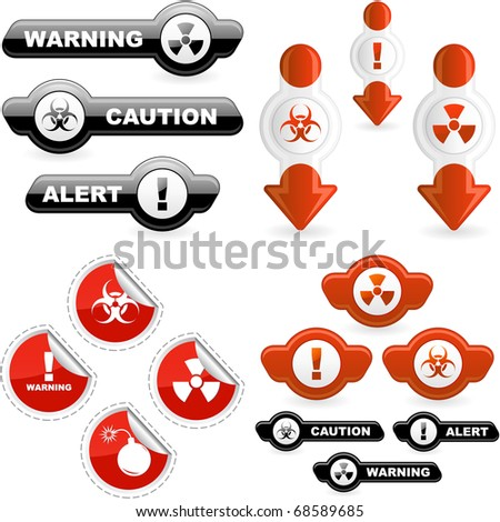 Warning signs. Vector collection. - stock vector