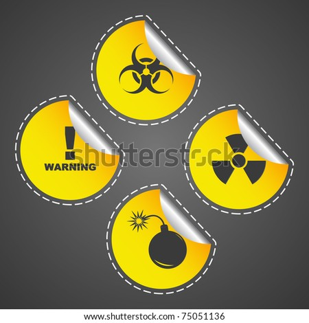 Warning signs. Vector illustration (eps10). - stock vector