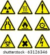 warning signs vector work. - stock vector
