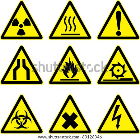 warning signs vector work.