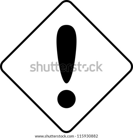Warning symbol danger - stock vector