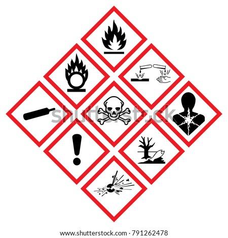 Warning Symbol Hazard Icons Ghs Safety Stock Vector 791262478