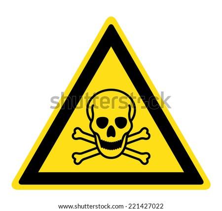 Warning Toxic material sign (eps 10) - stock vector