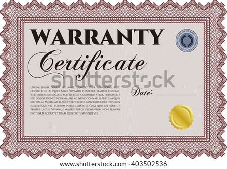 Warranty Template Stock Images RoyaltyFree Images  Vectors