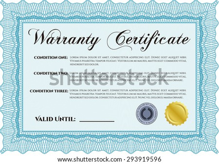 Horizontal Certificate Completion Template Floral Pattern Stock