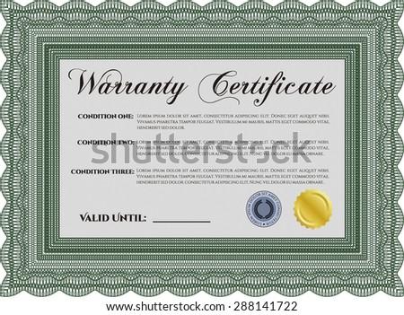 Warranty Certificate Template