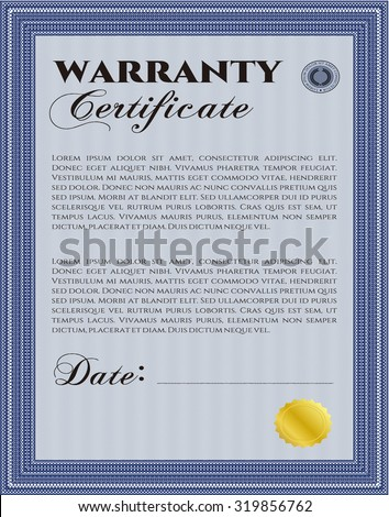Warranty certificate stock images royalty free images vectors warranty certificate with sample text complex frame very customizable yadclub Gallery