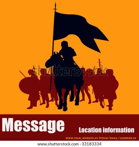 Warrior Message - stock vector