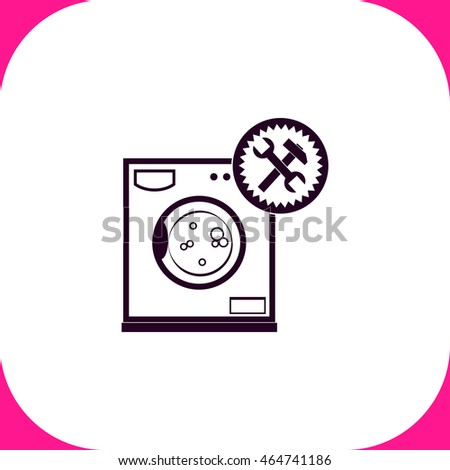 Washer repair vector icon on white background.