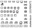 washing,laundry icons set - stock vector