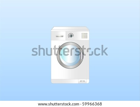 washing machine ( Background on separate layer )